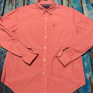 💙 Men's American Eagle Button Down Shirt Size L